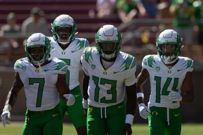 California (1-4, 0-2 in Pac-12) at No. 9 Oregon (4-1, 1-1 in Pac-12), 10:30 p.m., Friday, ESPN