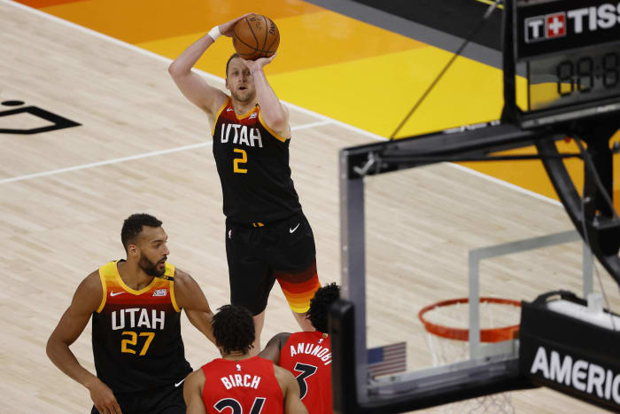 Joe Ingles has a true shooting percentage of 69.02, the ninth-best of all time