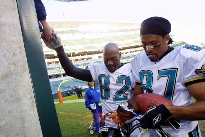 Keenan McCardell and Jimmy Smith, Jacksonville Jaguars; 1995-96