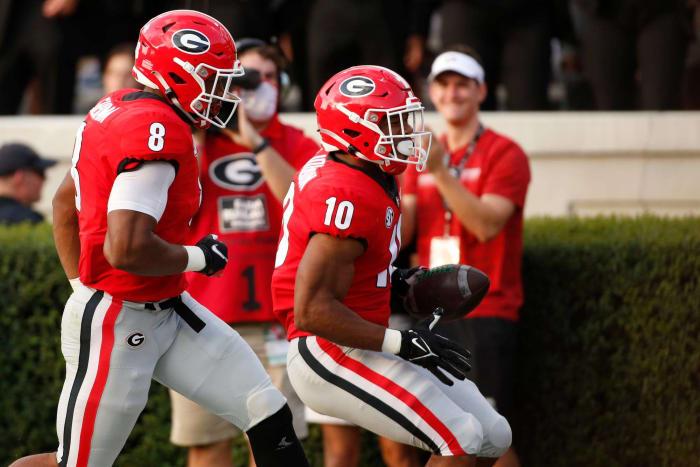South Carolina (2-0, 0-0 in SEC) at No. 2 Georgia (2-0, 0-0 in SEC), 7 p.m., Saturday, ESPN