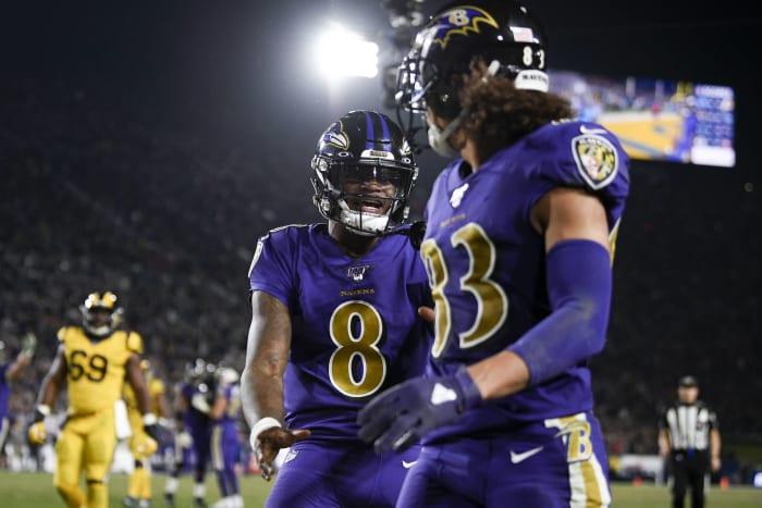 Baltimore Ravens, wide receiver