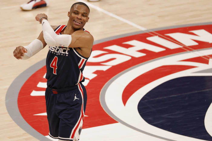 Russell Westbrook is going to average a triple-double for the fourth time in his career
