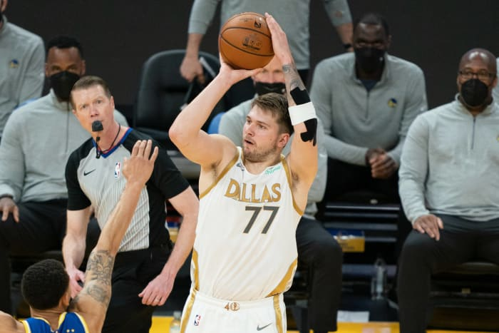 Luka Doncic is shooting a career-best from behind the arc