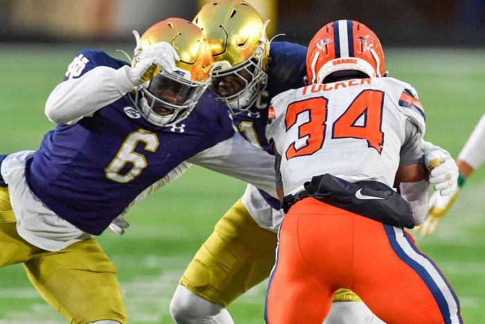 Indianapolis Colts: Jeremiah Owusu-Koramoah, ILB, Notre Dame