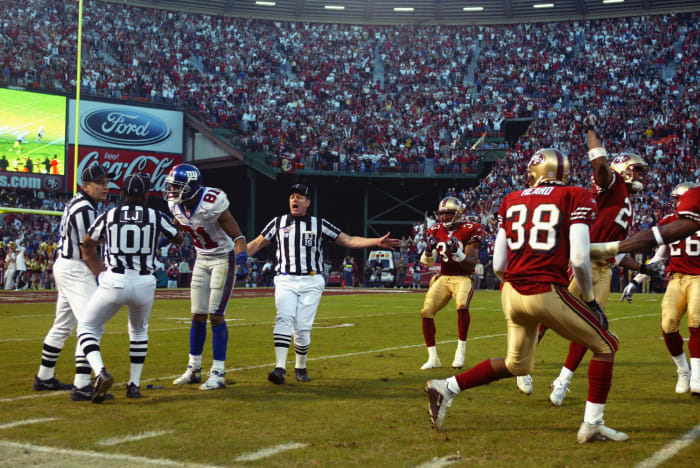 2002 NFC wild-card game: 49ers 39, Giants 38
