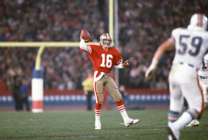 Montana outduels Marino in the Super Bowl