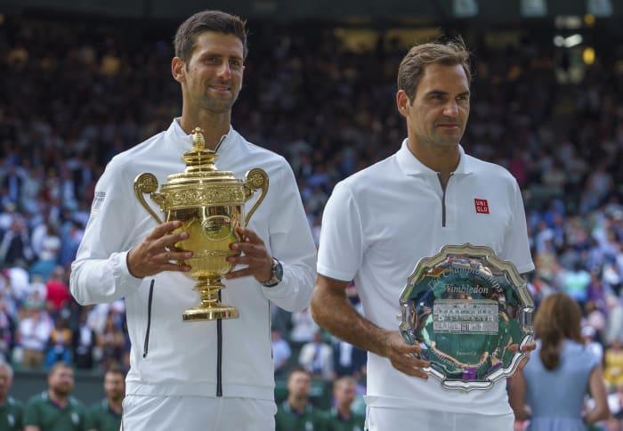 Men's tennis: Roger Federer (Switzerland) and Novak Djokovic (Serbia)