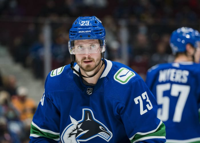 Oliver Ekman-Larsson and Conor Garland, Vancouver Canucks