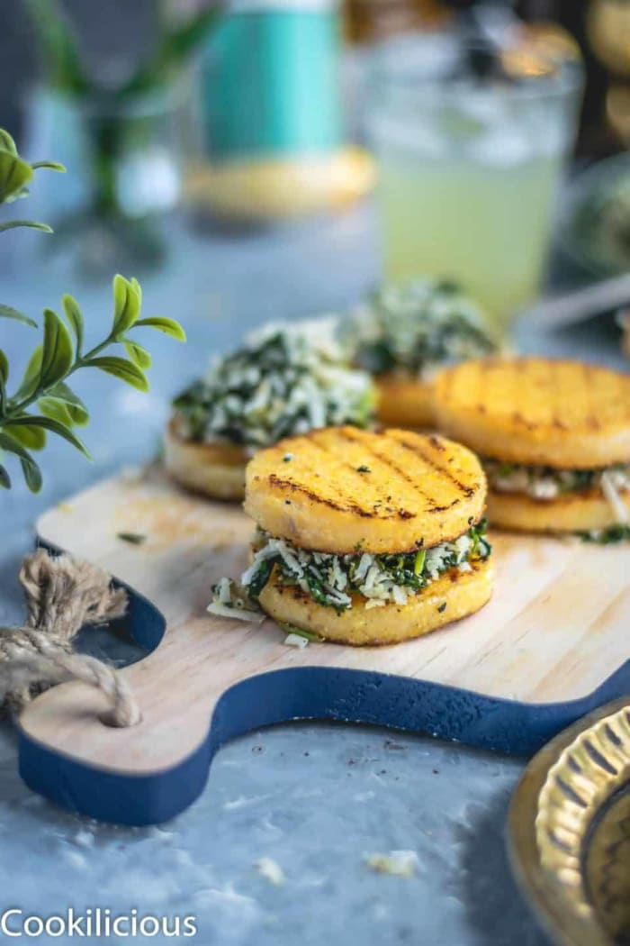 Polenta cilantro savory bites