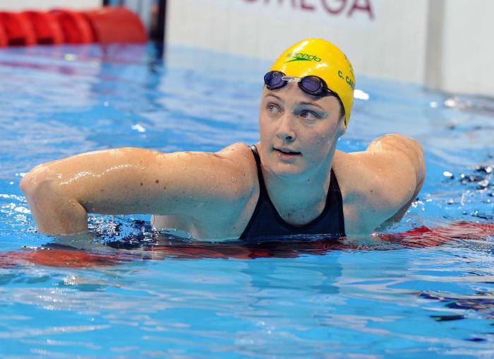 Women's swimming 4x100 medley relay: United States vs. Australia