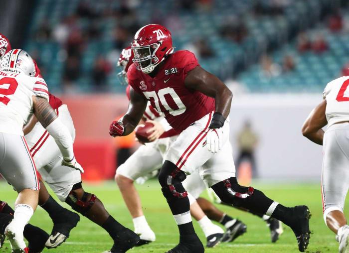 No. 17 | Raiders: Alabama OL Alex Leatherwood