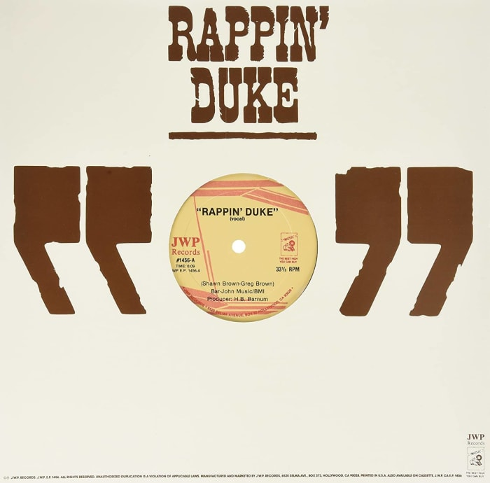 """Rappin' Duke"" by Shawn ""Rappin' Duke"" Brown"