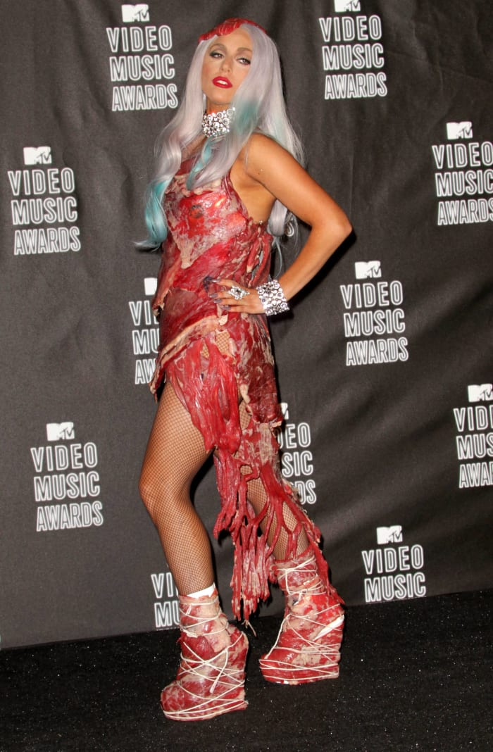 2010: Lady Gaga's meat dress