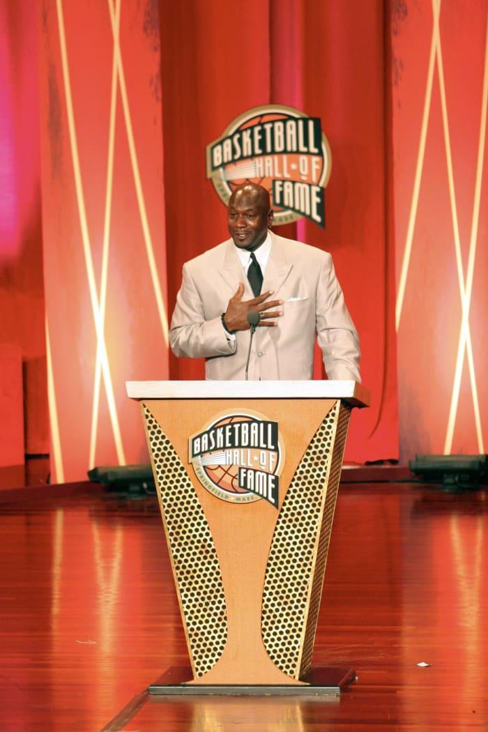 A very MJ Hall of Fame speech