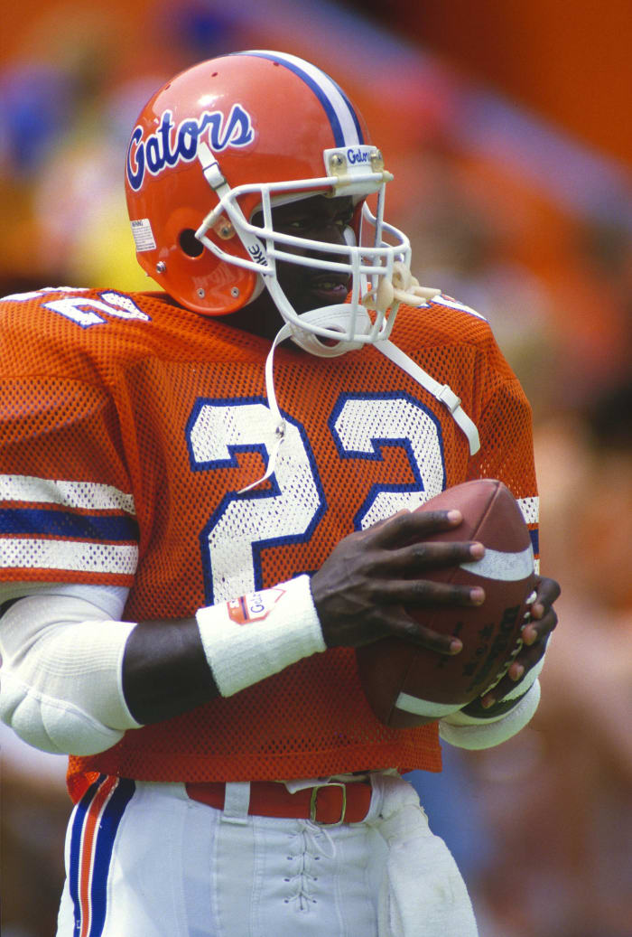 Breaks Florida single-game rushing record in first college start