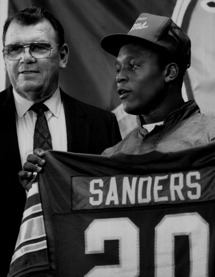 The Lions draft Sanders third overall