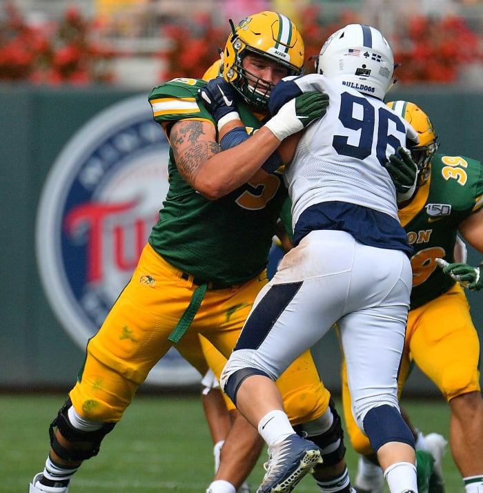 New York Jets (via Seahawks): Dillon Radunz, OT, North Dakota State