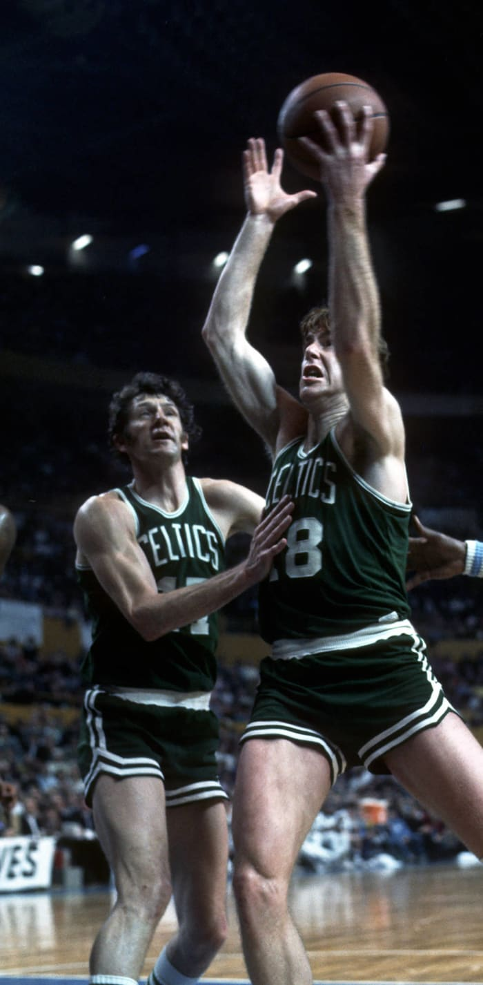 John Havlicek and Dave Cowens, Boston Celtics