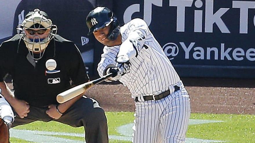 Gleyber Torres scores on Astros blunder