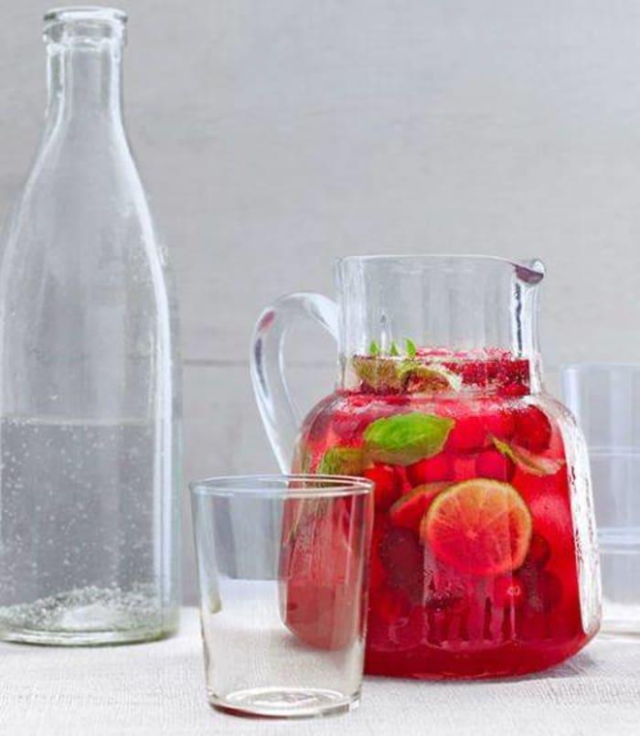 Cranberry-Basil Spritzer