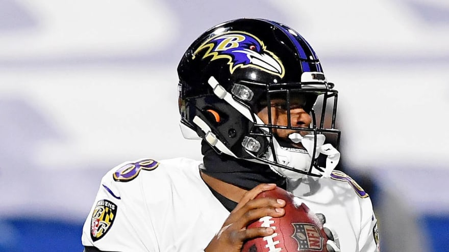 Lamar Jackson picks worst possible time for first career red-zone interception