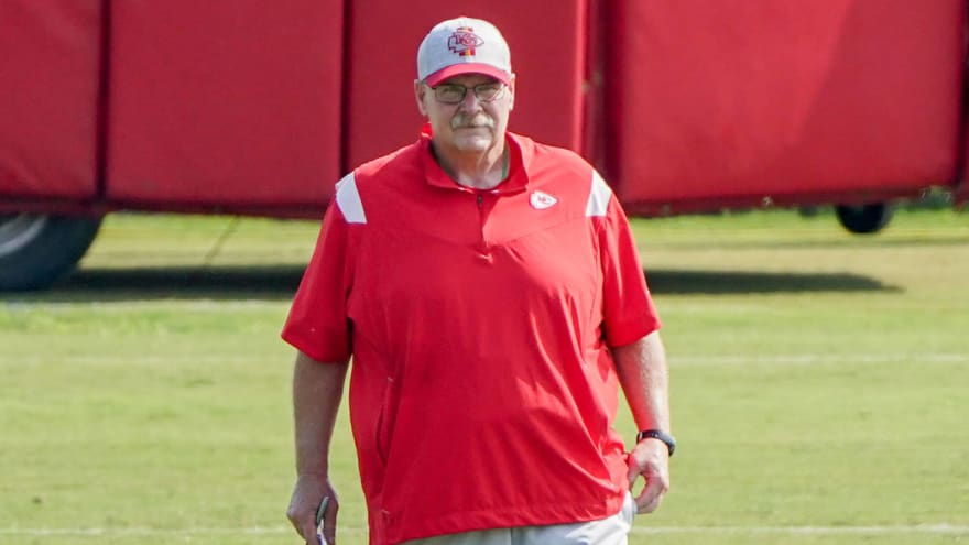 Andy Reid leaves stadium in ambulance after not feeling well