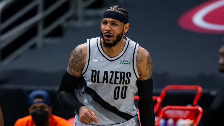 Carmelo Anthony throws shade at Pistons for odd reason