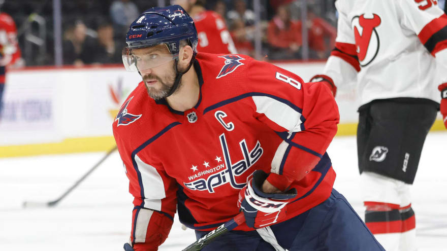 Alex Ovechkin practices, questionable to play vs. Rangers