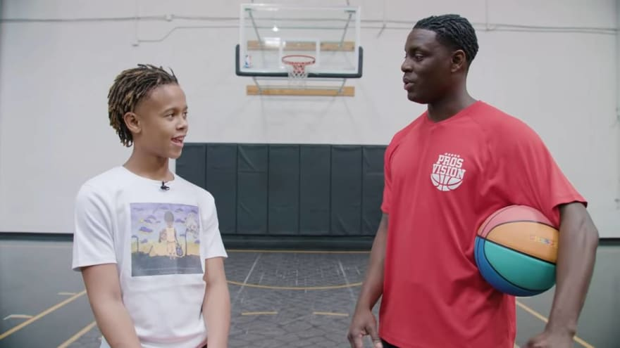 Watch: 12-year-old challenges Darren Collison in 'Shot at the Champ' series