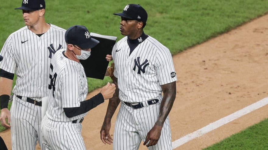 Aroldis Chapman to appeal suspension for throwing at Rays
