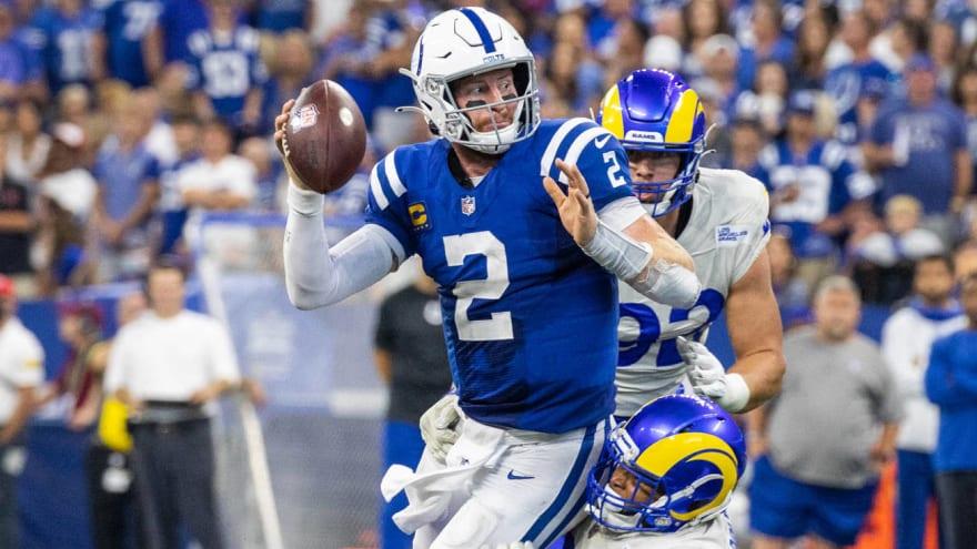 Colts QB Carson Wentz injured both ankles