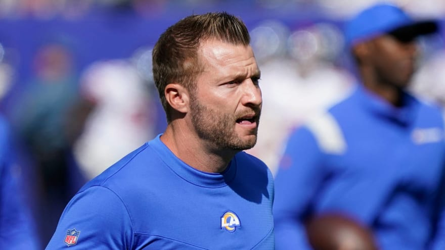 Sean McVay, Jared Goff share hug after Lions-Rams game