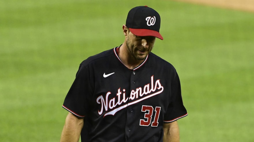 Max Scherzer leaves start early with injury