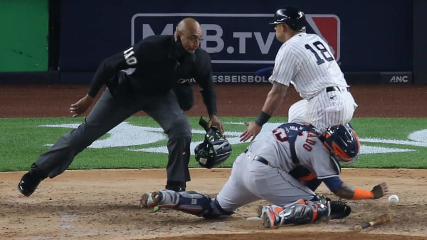 Rougned Odor placed on IL after home-plate collision