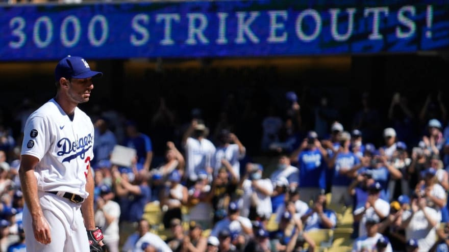 Scherzer becomes 19th member of MLB's 3,000 strikeout club