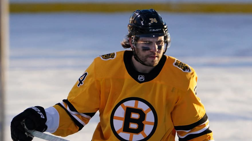 Bruins winger Jake DeBrusk removed from NHL's COVID list