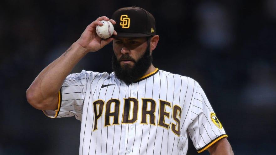 Padres designate Jake Arrieta for assignment