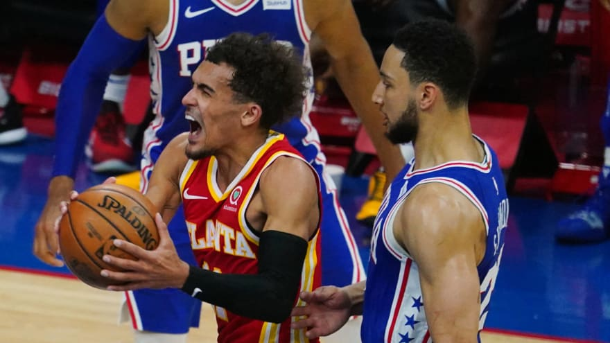 Ben Simmons welcomes challenge of guarding Hawks' Trae Young in Game 2