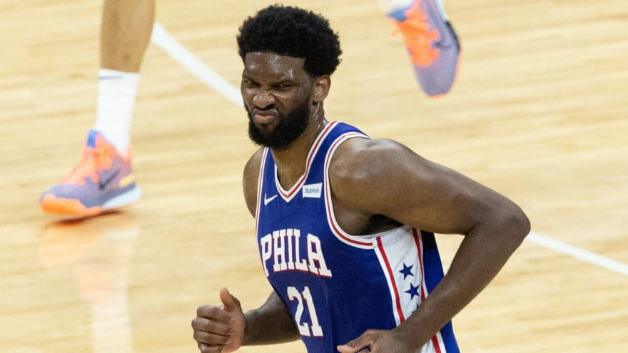 76ers star Joel Embiid disappointed with referees despite win over Hawks