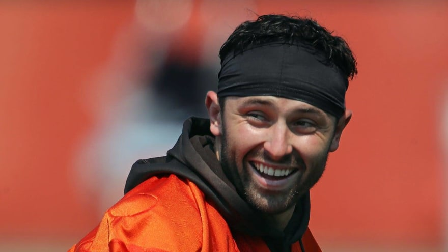 Nick Chubb's contract extension has Baker Mayfield pumped