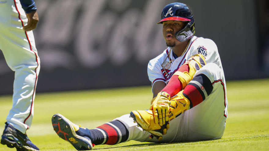 Ronald Acuna Jr. avoids serious ankle injury