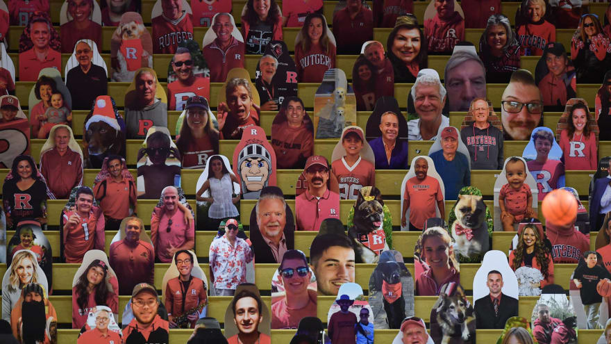 Rutgers uses 'Sopranos' character cutouts in arena