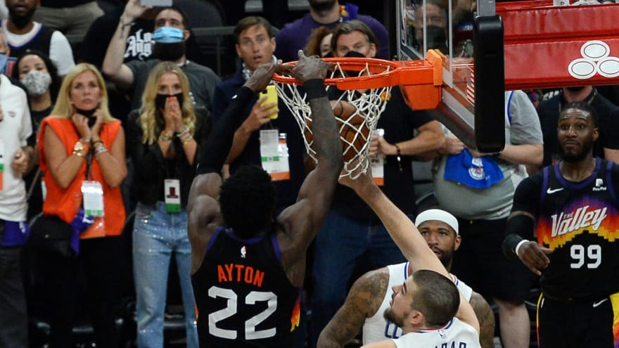 Suns beat Clippers on last-second Deandre Ayton alley-oop