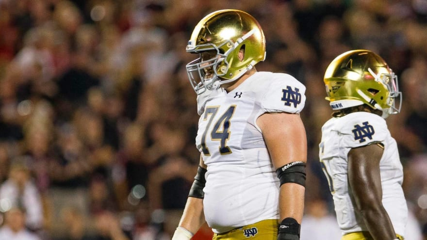 Giants trade 42nd pick to Dolphins; Miami selects OT Liam Eichenberg