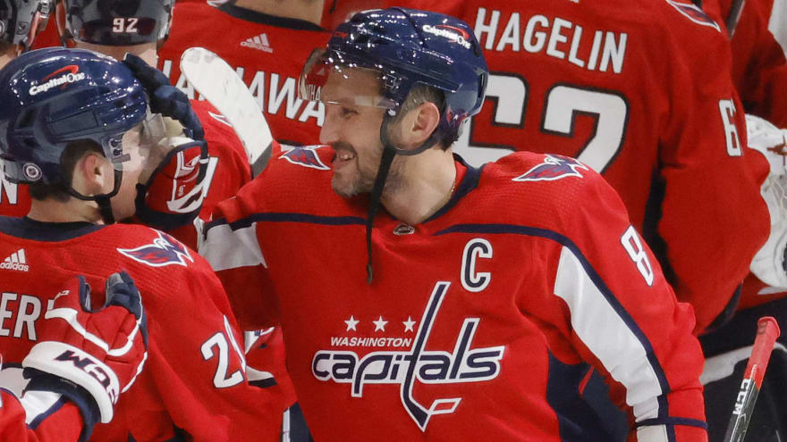Ovechkin moves to fifth all-time with two goals in opener