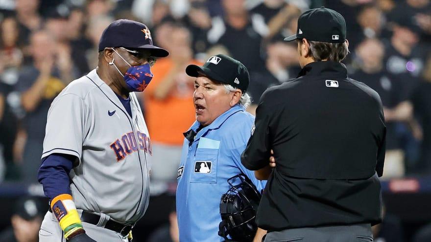 Dusty Baker, Astros upset over Yasmani Grandal play