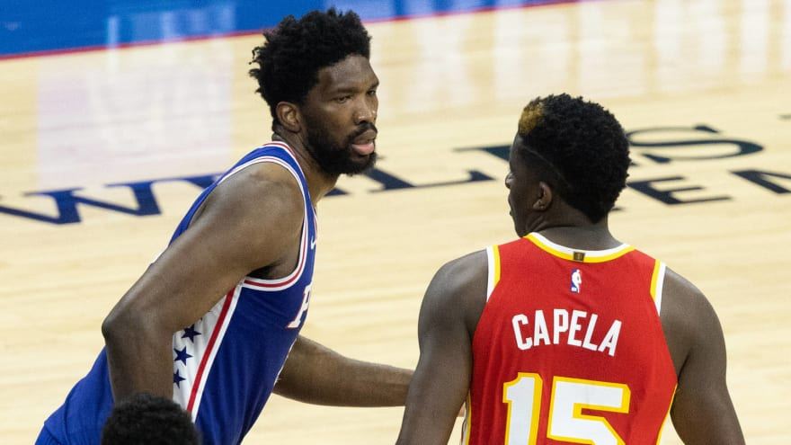 Joel Embiid, Clint Capela trash talk each other in French