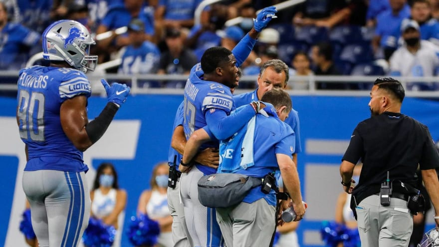 Lions CB Jeff Okudah done for season with ruptured Achilles