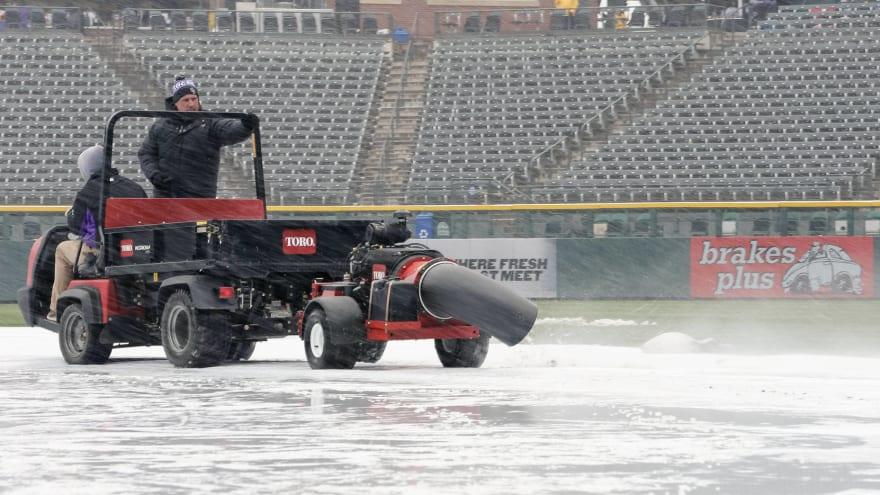 Video shows blizzard that caused Rockies-Mets postponement