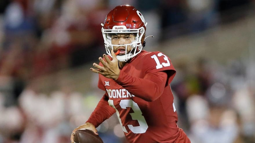 Caleb Williams saves game for Oklahoma with quick thinking
